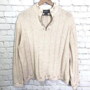 Woolrich pull over quarter zip sweater size XL